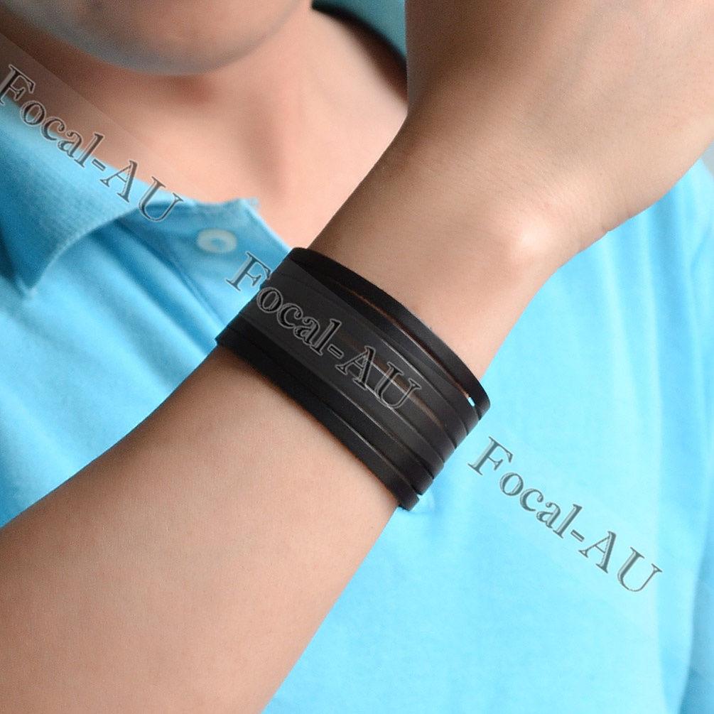 Punk Men Women Wide Leather Belt Bracelet Bracer Arm Armor Cuff Wristband Bangle