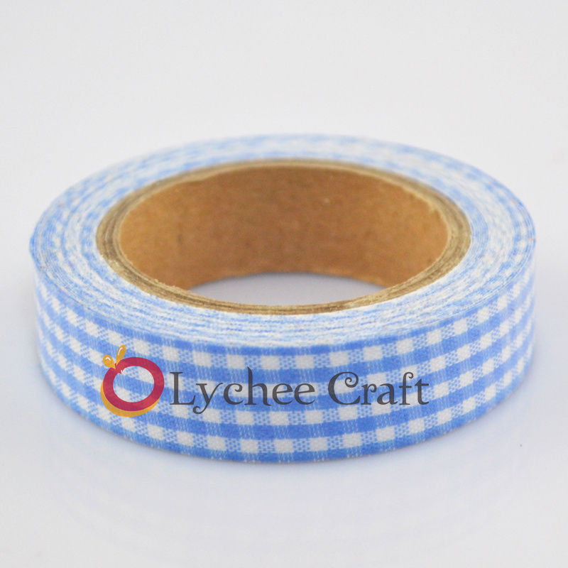 New Arrival 15mm Printing Fabric Washi Tape Decorative DIY Tape Sticker
