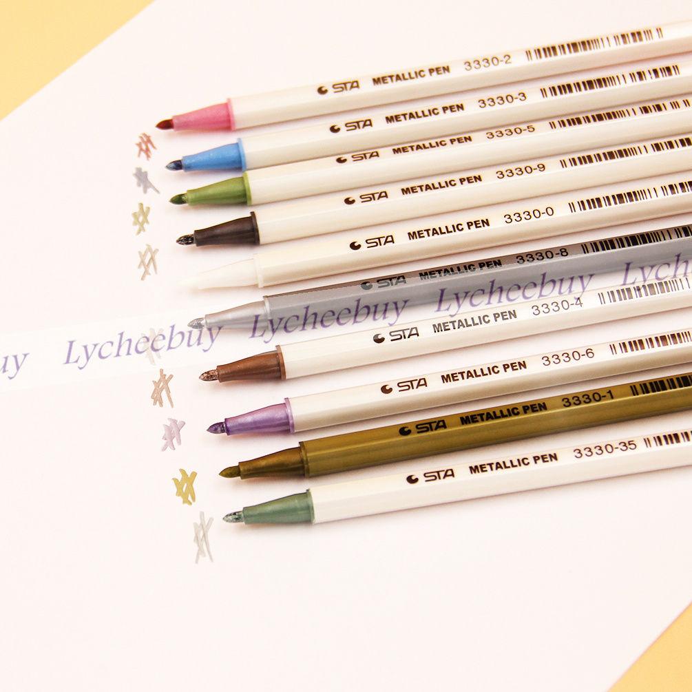 Colorful Metallic Waterproof Marker Pens Ink Scrapbook Deco Card Making Gift