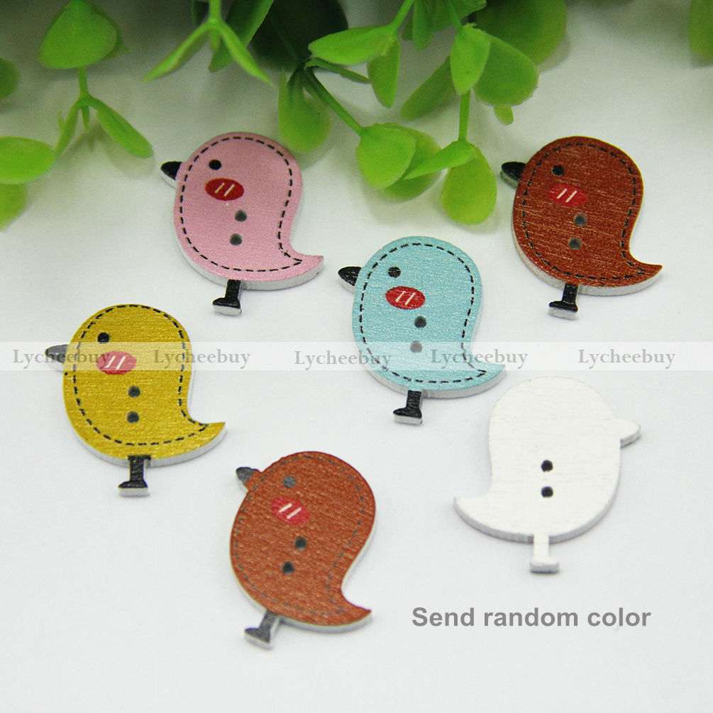 New Multicolor Wooden Buttons Craft Buttons Fit Sewing Scrapbook Assorted Button