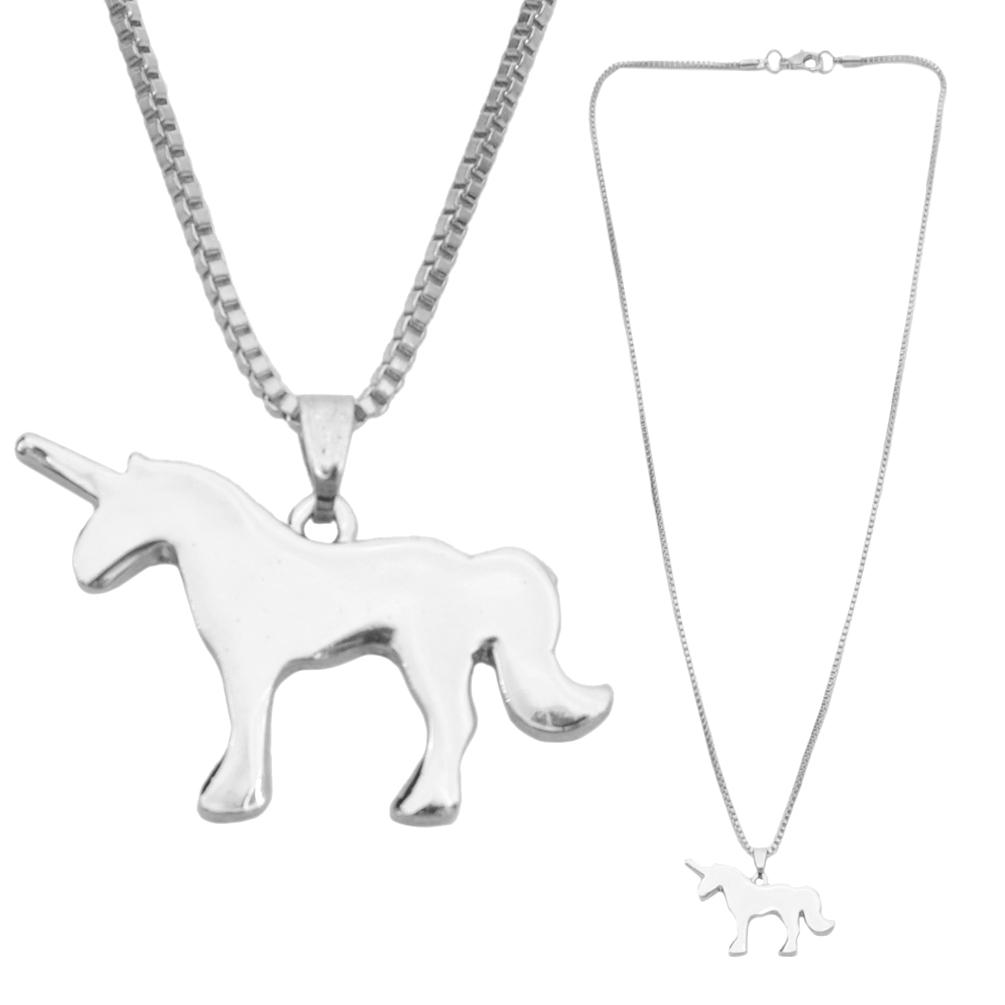 Cute Unicorn Necklace Pendant Charm Chain Unisex Lovers Gift Friendship Fashion