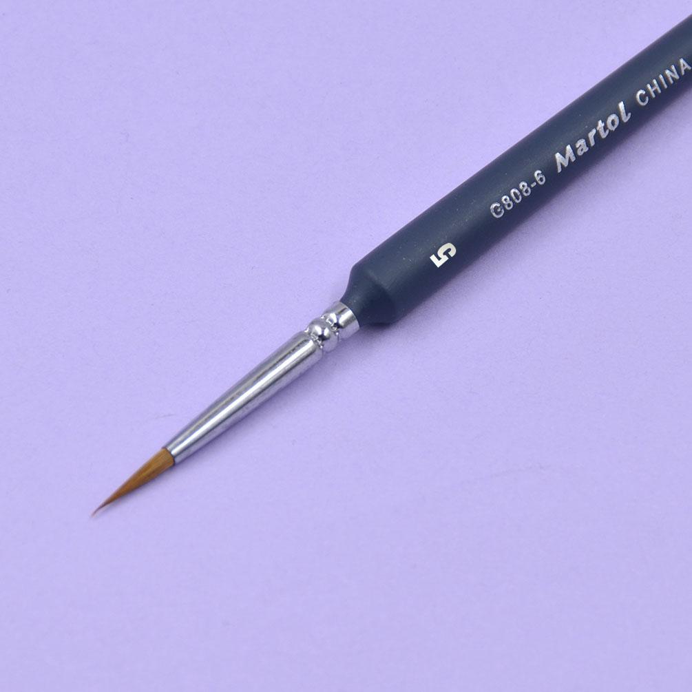 6 size wooden weasel hair hook line brush pen draw chalk watercolor