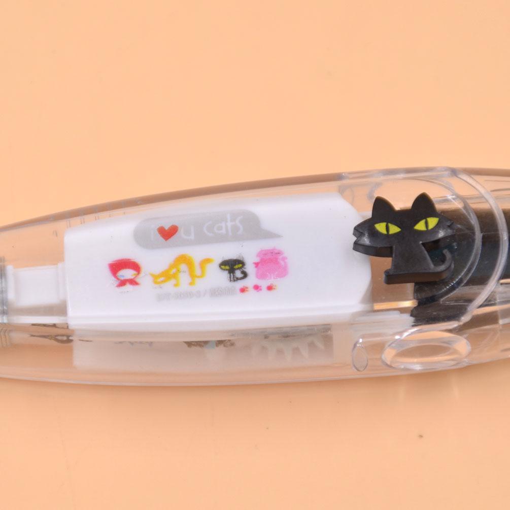1 Pc New Cartoon Decoration Tape Pen Deco Rush Cat Dog Owl DIY School Stationery