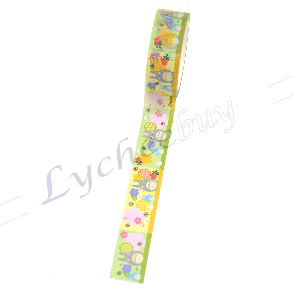 1 X New Japanese Anime My Neighbour Totoro Washi Tape Sticker DIY 1.8cm*10m Cute