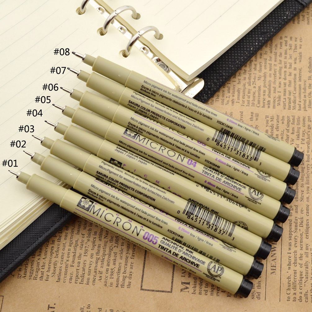 Line Art Pens : Pc sakura fine line drawing pen needle point for cartoon