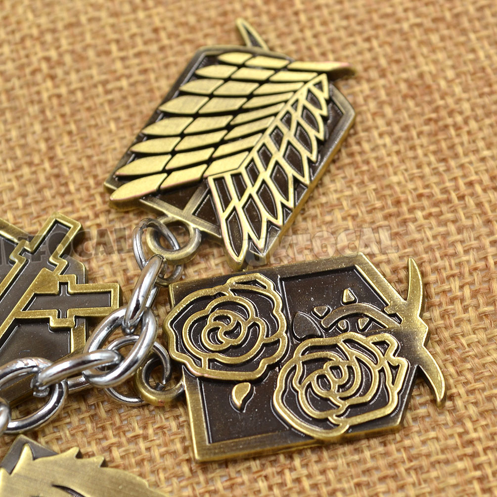 Anime Attack on Titan Cosplay Keychain Wing of Liberty Keyring New Xmas Gift