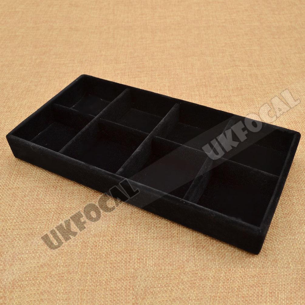 Jewellery Display Box Storage Case Tray Drawer Organizer 8 Compartment 22*11*3cm