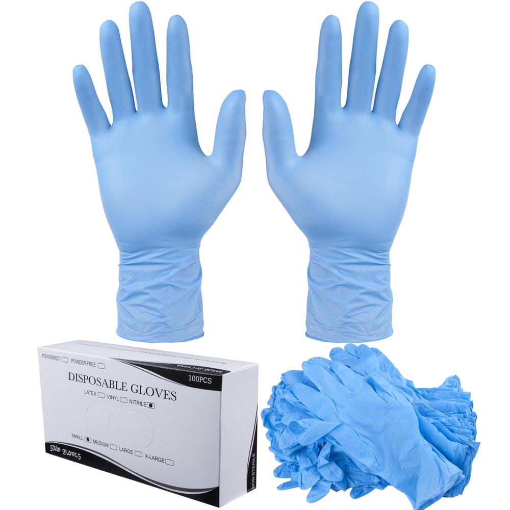 1000 powder free nitrile disposable gloves non latex vinyl exam large size s xl ebay. Black Bedroom Furniture Sets. Home Design Ideas
