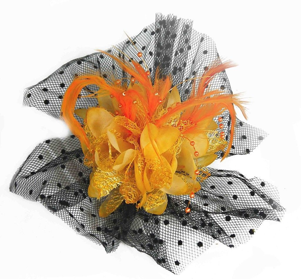 Women-Girls-Feather-Flower-Hair-Clip-Broach-Fascinators-Wedding-Ascot-Party