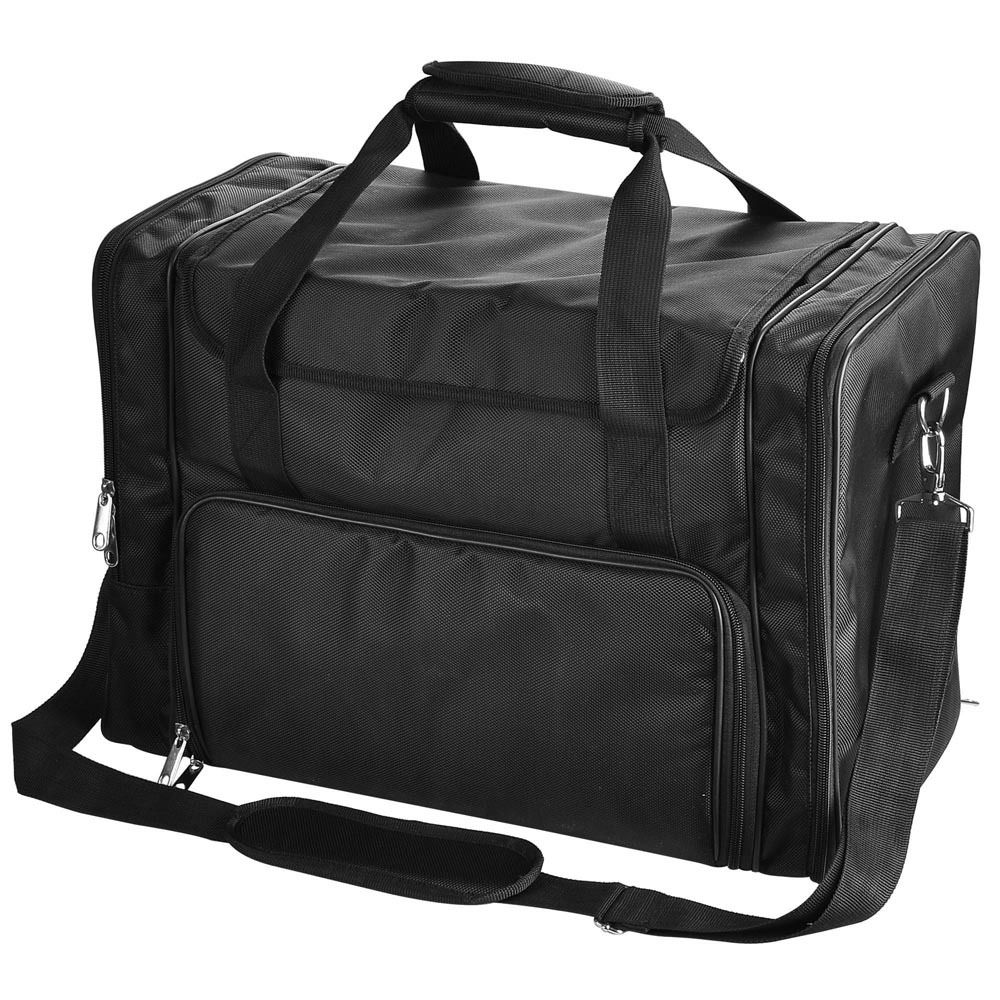 1200D Black Soft Makeup Bag Case Pockets Artist Travel Cosmetic ...