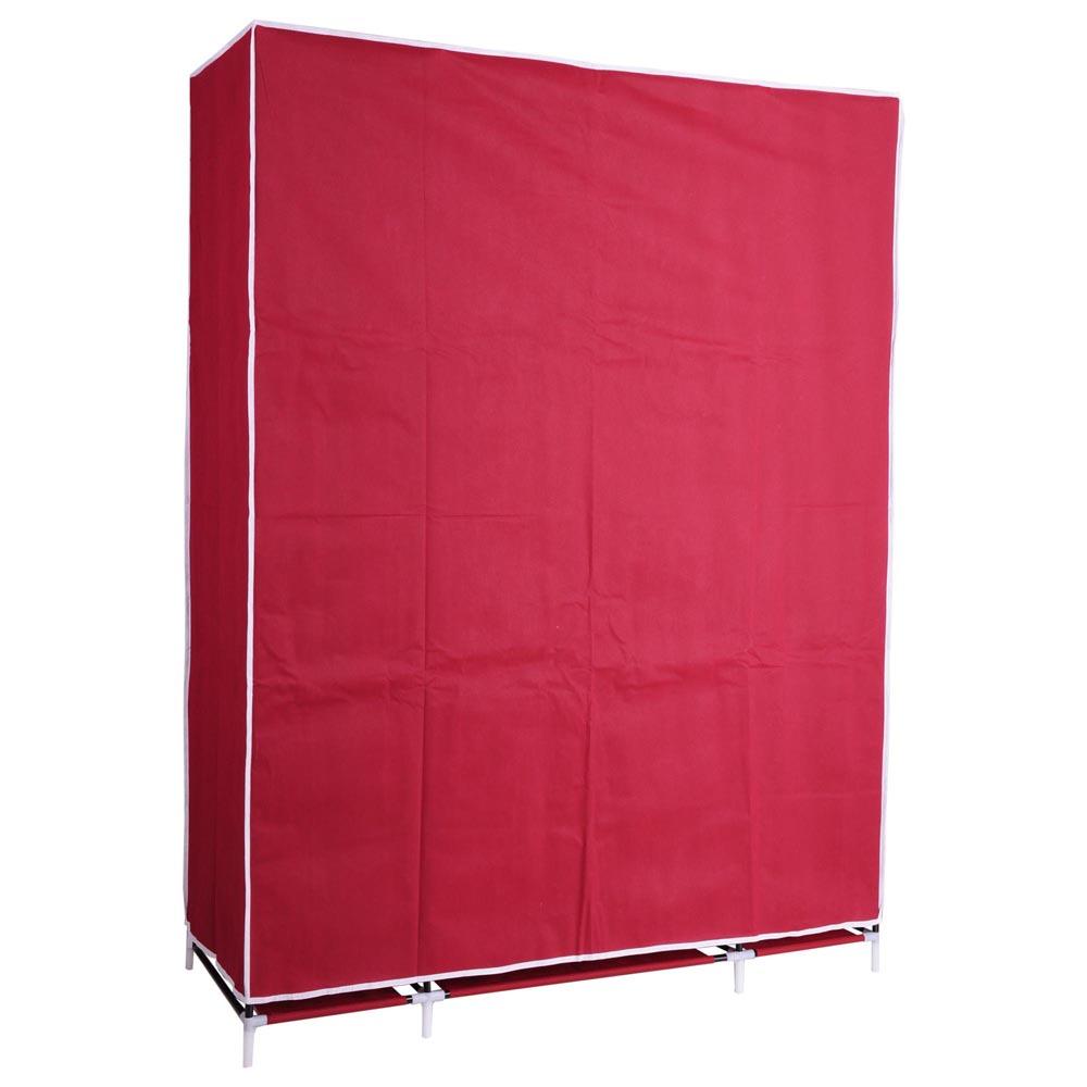 Portable 50 Wardrobe Closet Storage Organizer Cupboard Cloth Rack
