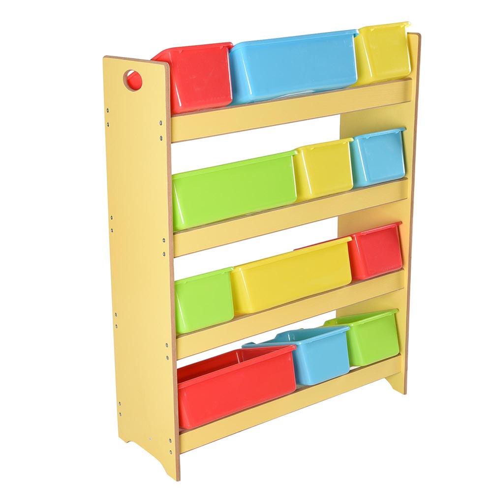 toys storage children kids shelf rack plastic boxes tubs bins bedroom