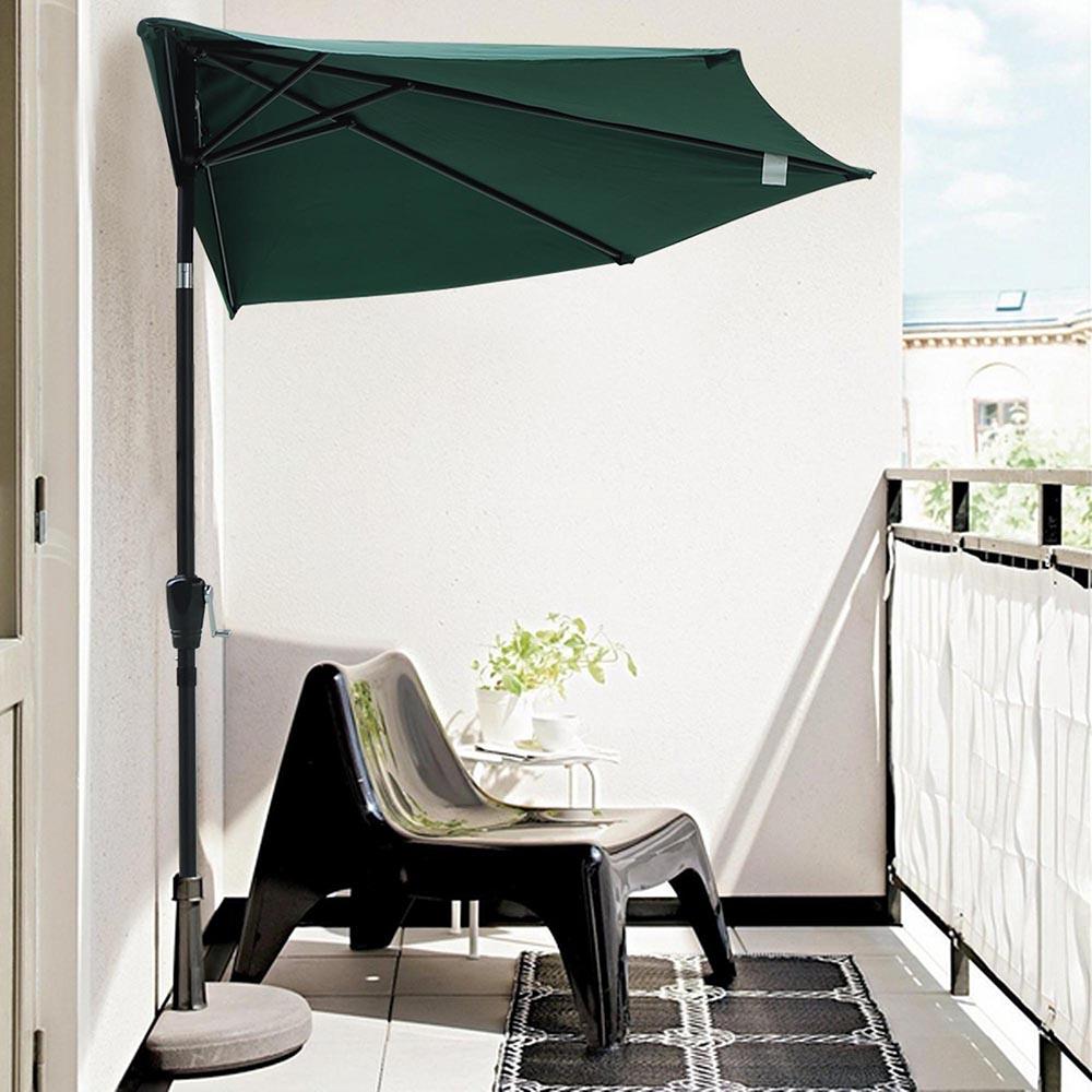 9ft Half Umbrella Outdoor Patio Bistro Wall Balcony