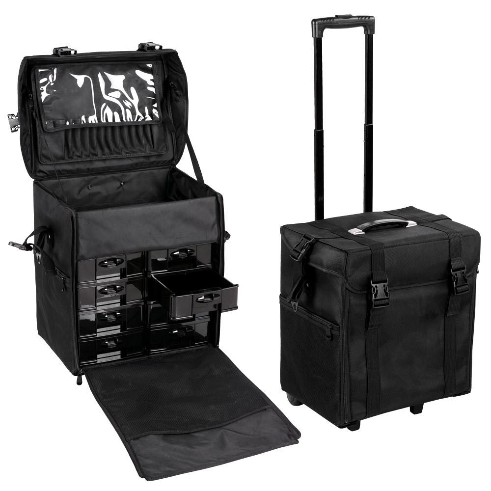 Pro 2in1 Soft Sided Rolling Makeup Case Oxford Train Bag