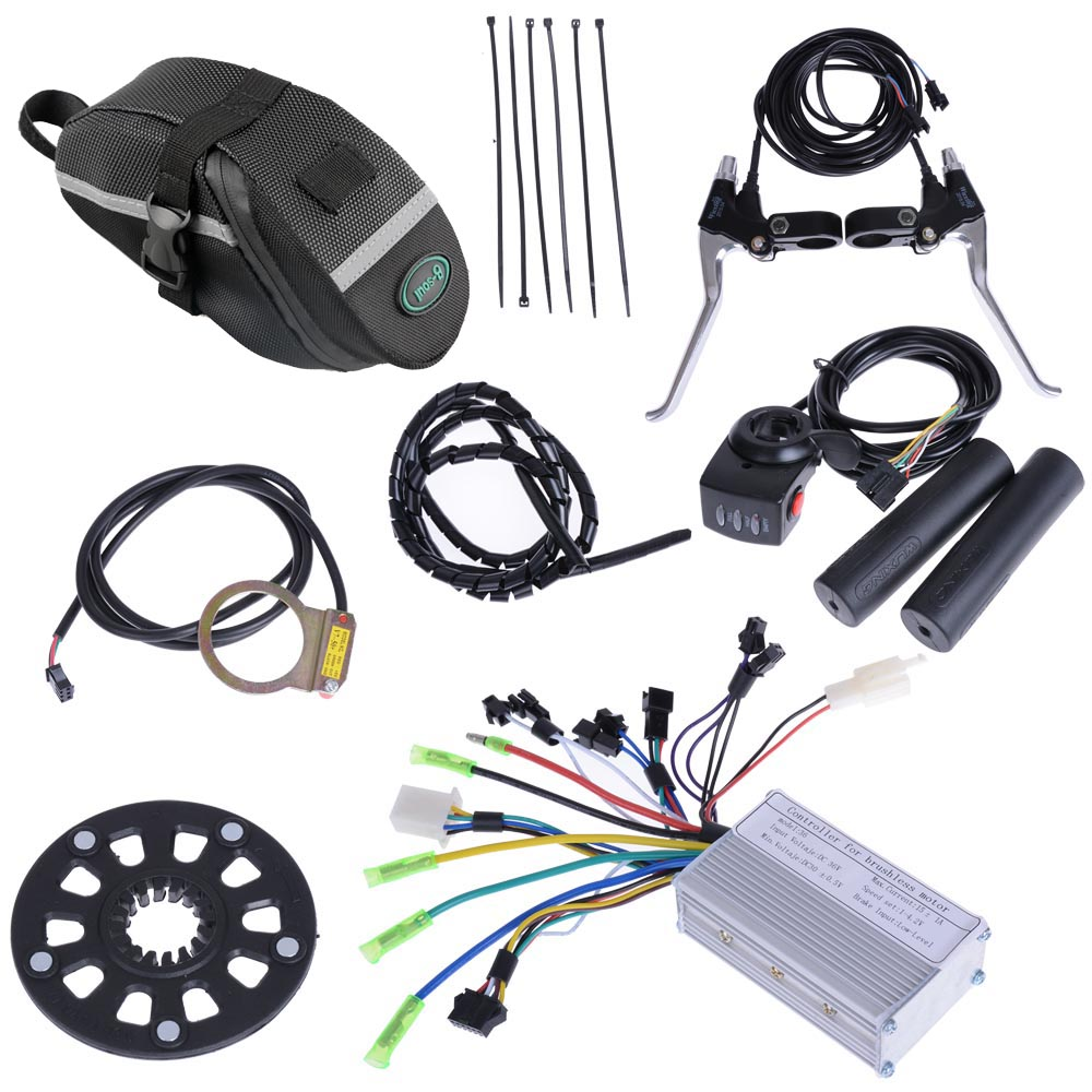 26 front rear wheel electric bicycle motor kit e bike hub for Bicycle electric motor kits