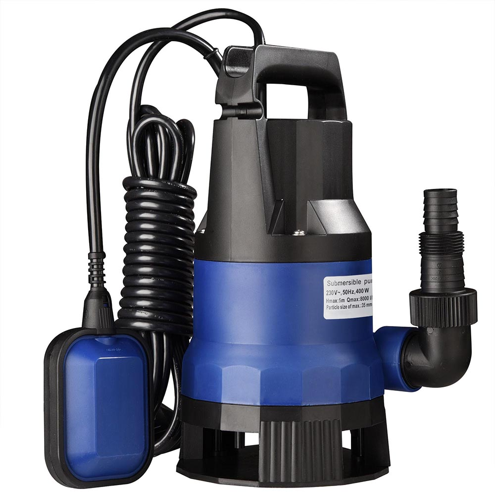 400 750 1000w submersible pump clean water flood garden for Best rated pond pumps