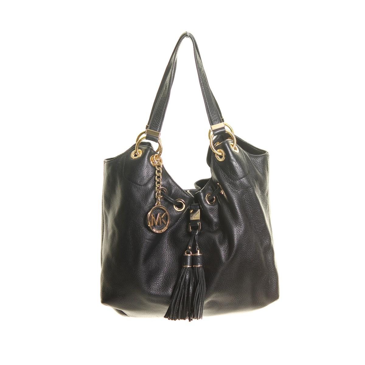 michael kors black middleton soft venus leather hobo bag ebay. Black Bedroom Furniture Sets. Home Design Ideas