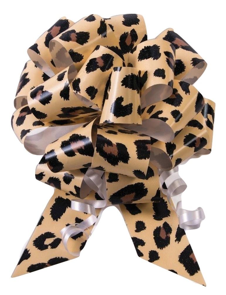 "10-5/"" Cheetah Print Pull Bow Pew Bows Wedding Decorations Christmas Gift Wrap"