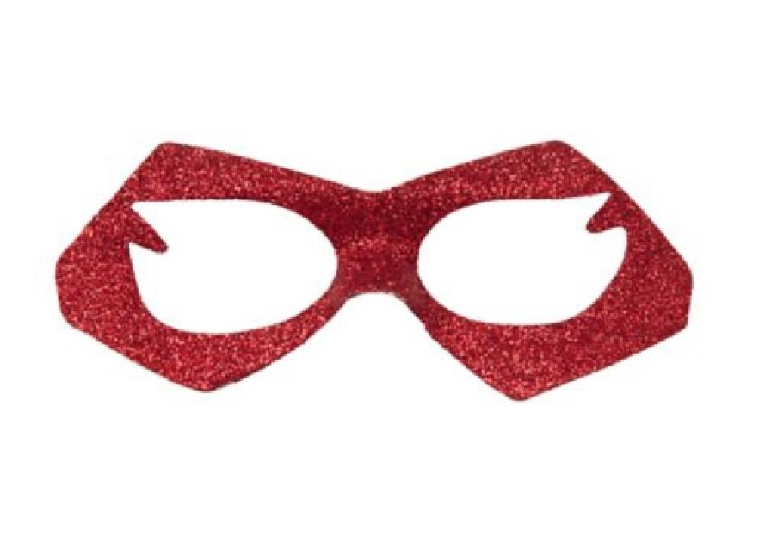 Adult Supergirl Fancy Red Glitter Design Eye Mask Costume Accessory