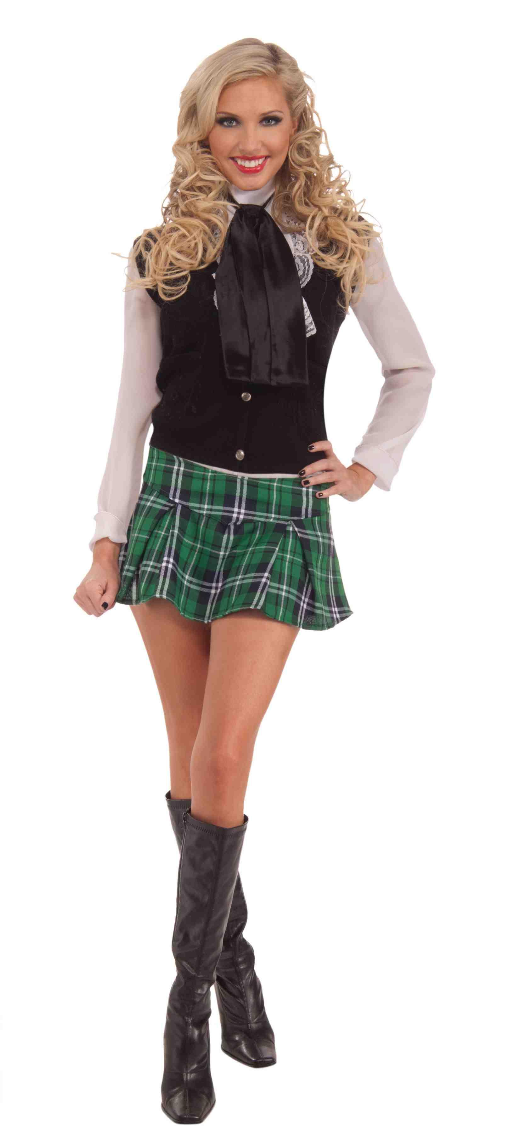Scottish Mini Kilt Plaid Green Skirt St. Patrick Day Womens Costume Accessory | EBay