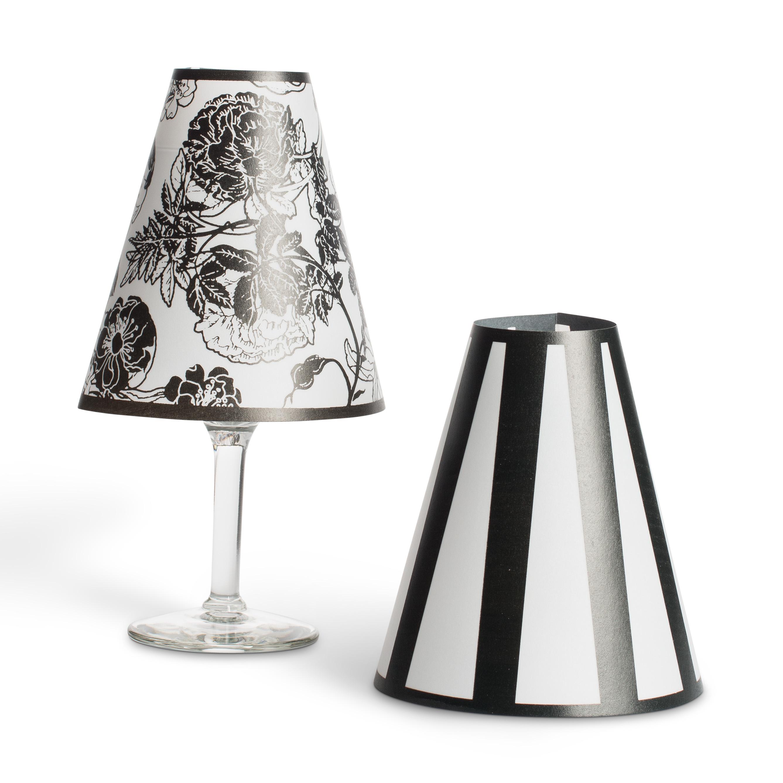 Quot wine glass lamp shades tea lights home wedding decor