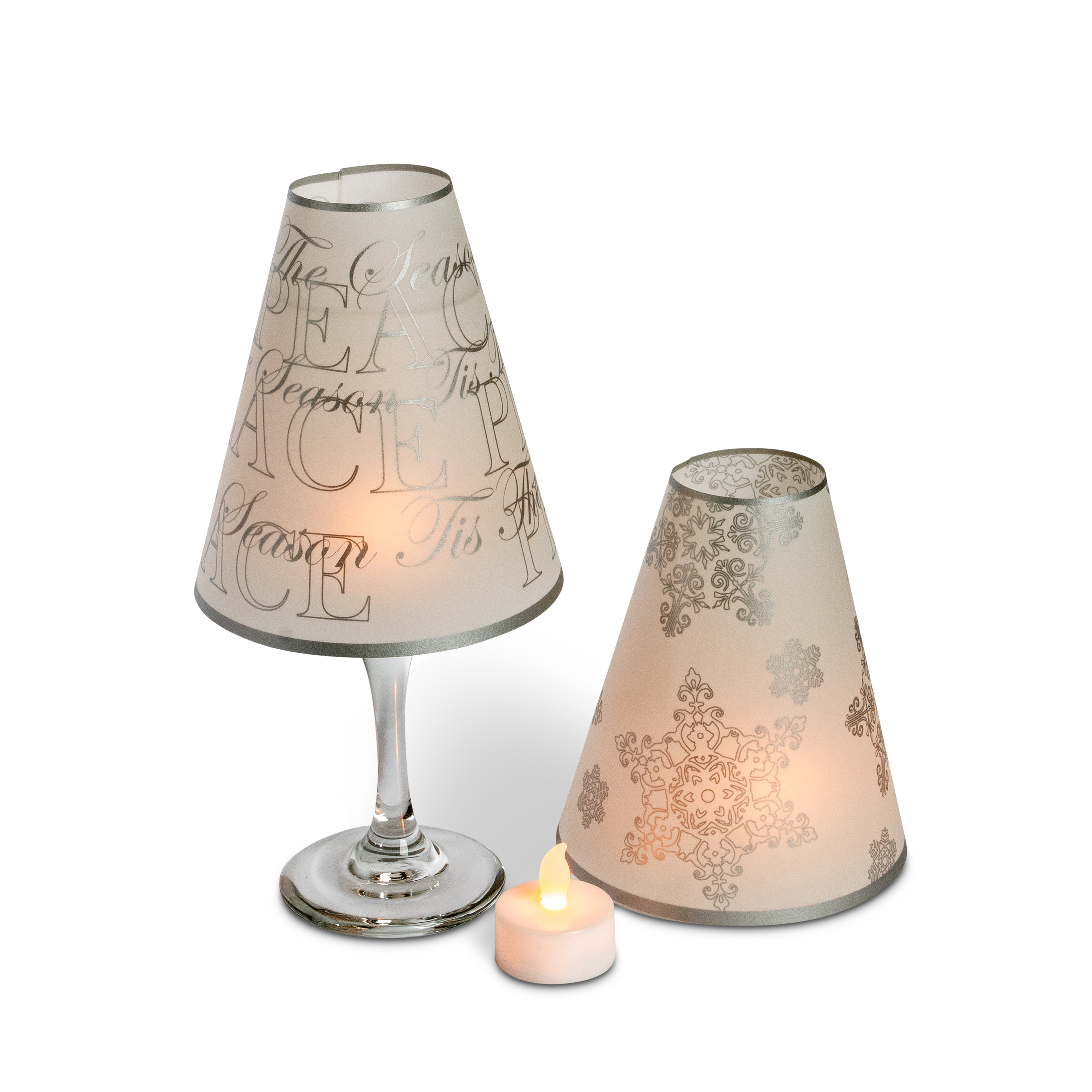 5 wine glass lamp shades tea lights home wedding decor centerpieces snowflake ebay Home decorators lamp shades