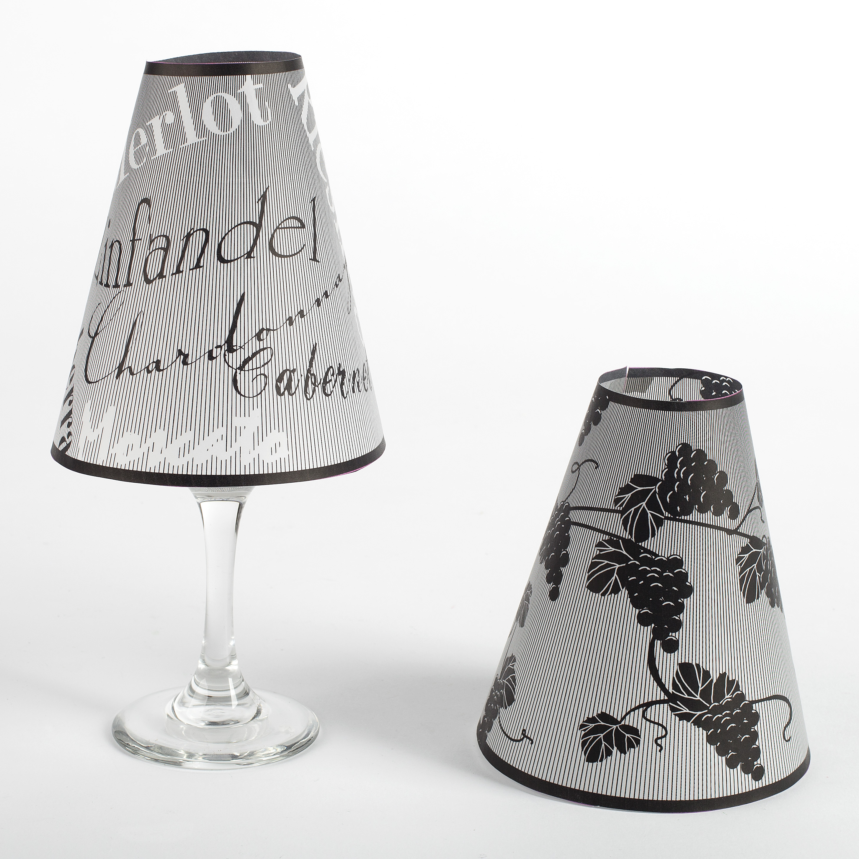 Quot wine lover glass lamp shades tea lights home decor
