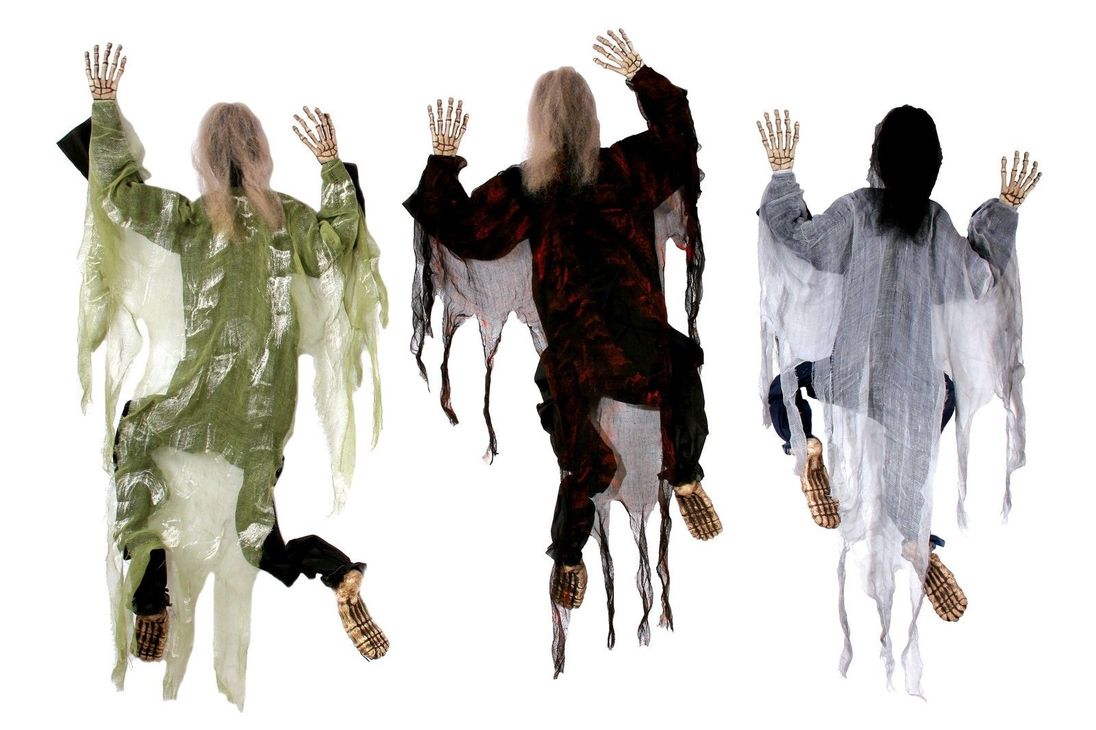 5 hanging climbing dead zombie monster prop decoration halloween wall decor - Decoration Halloween