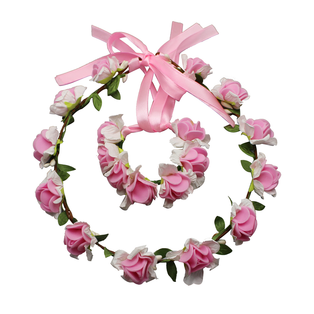 Wedding flower head wreath