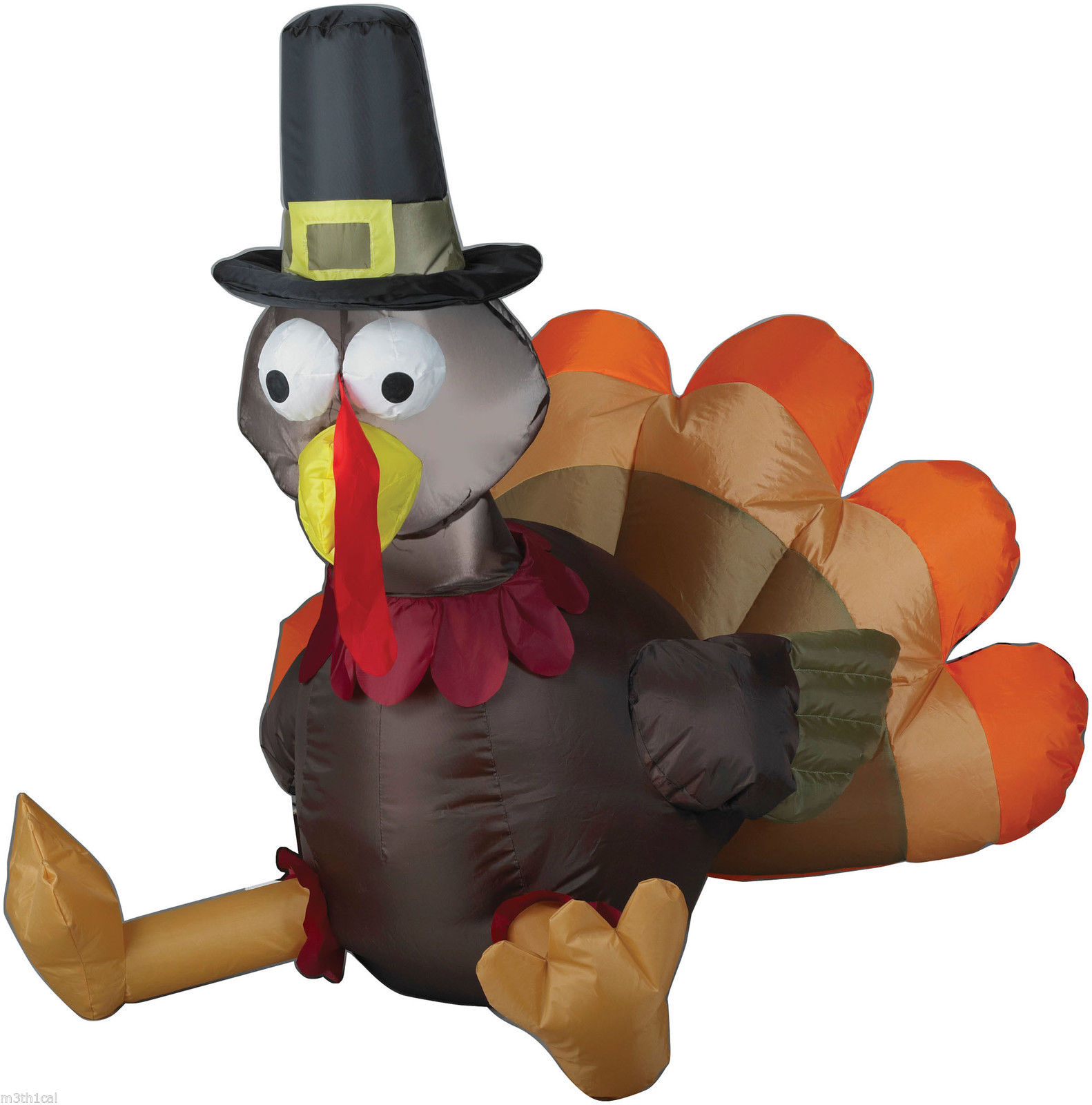 Gemmy airblown inflatable piligrim turkey thanksgiving