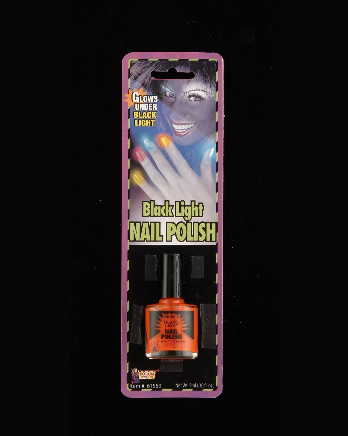 Black Nail Polish Ebay: Glow In The Dark Black Light Blacklight Finger Nail