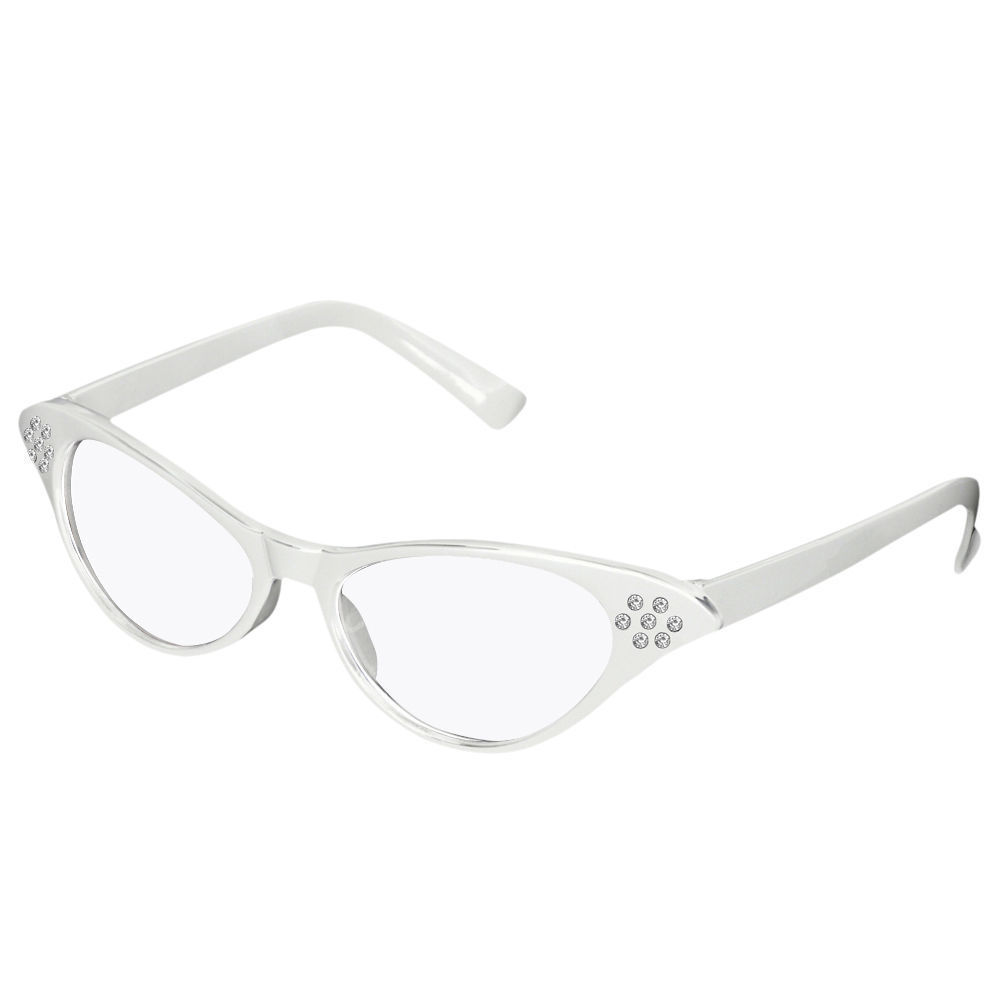 50s-Cat-Eye-Glasses-Retro-Vintage-Style-Gradient-Clear ...