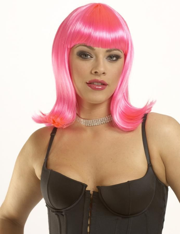 Adult-Womens-50-039-s-Deluxe-Peggy-Sue-Short-Straight-Costume-Wig-Hair-Drage-NEW