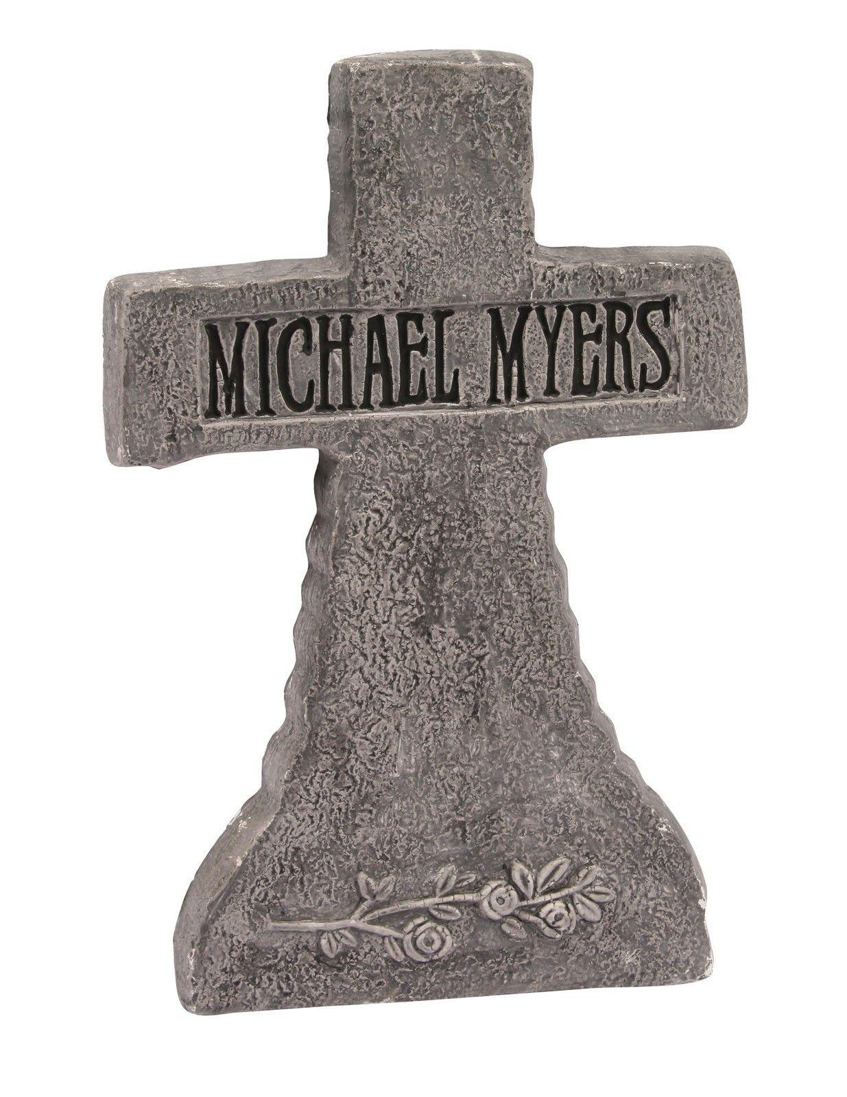 21 cross michael myers halloween tombstone gravestone halloween decoration prop - Michael Myers Halloween Decorations