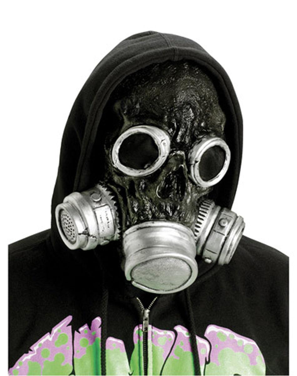 Biohazard Bio Chemical Zombie Horror Gas Mask Halloween Costume ...