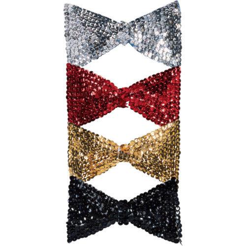 Sequin-Bowtie-Bow-Tie-Clown-Dance-Costume-Accessory-NEW