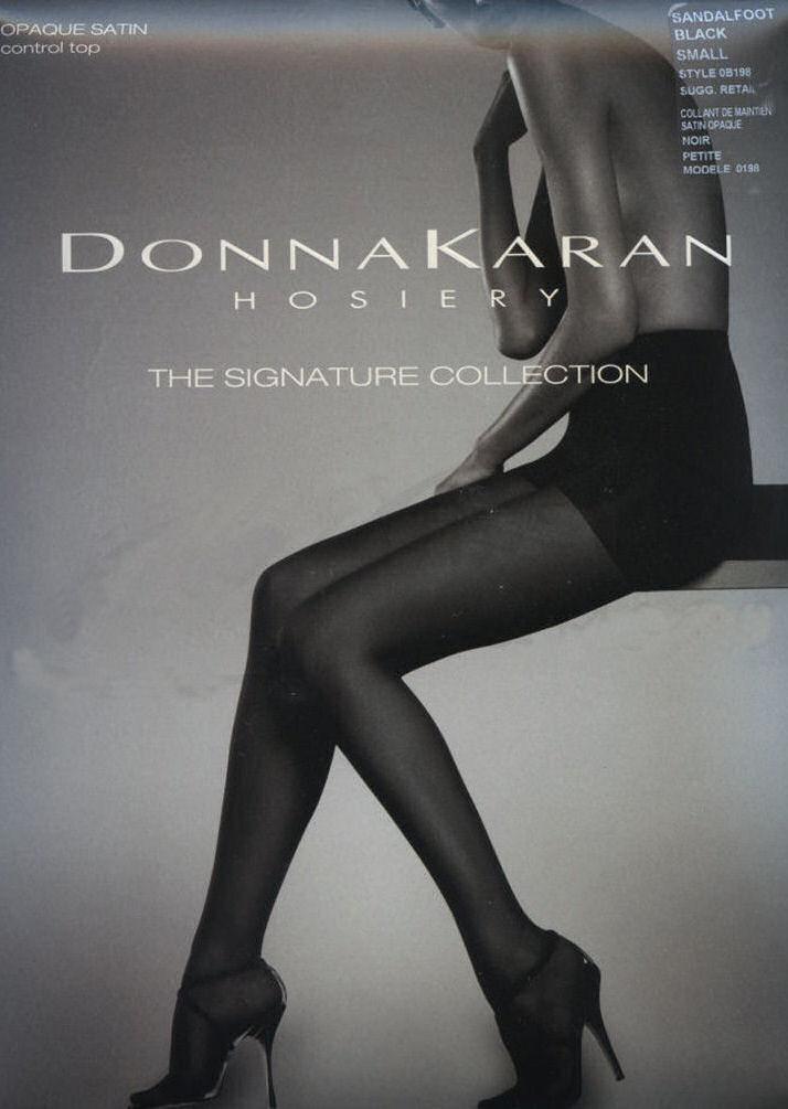 Donna Karan DKNY Super Opaque High Waist Control Top Tights 0B677 90 Denier