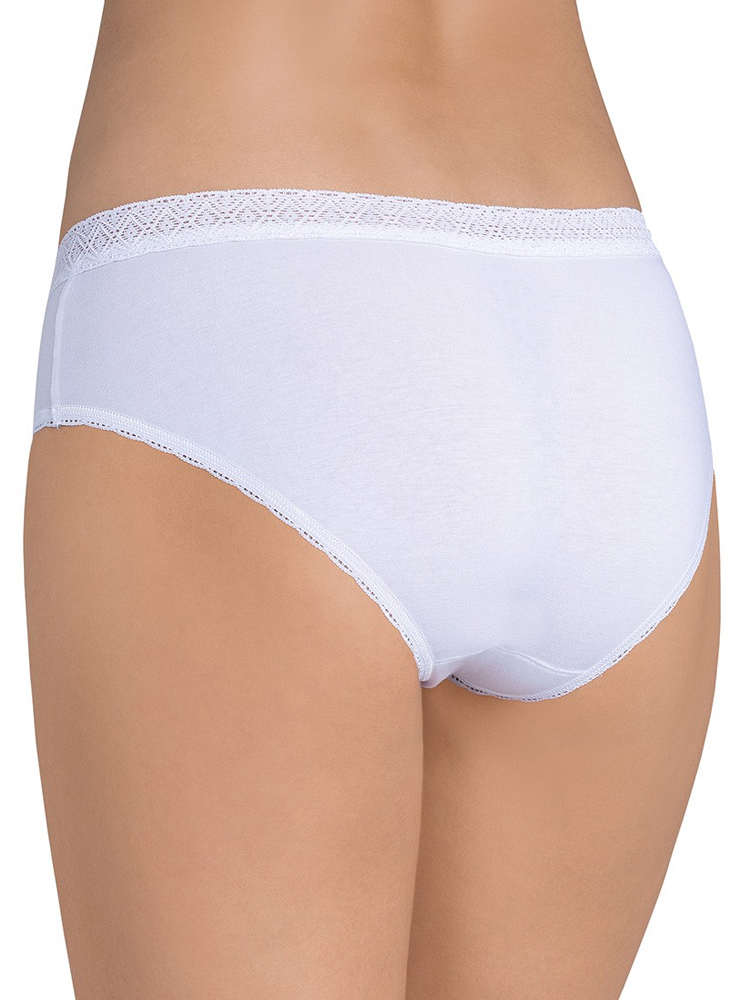 Sloggi EverNew Lace Hipster 92/% Cotton 10162961 Brief Knickers White Black