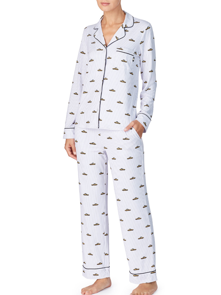 DKNY The Wishlist Pyjama Set 2119478F Long Sleeve Fleece Branded Night Pyjamas