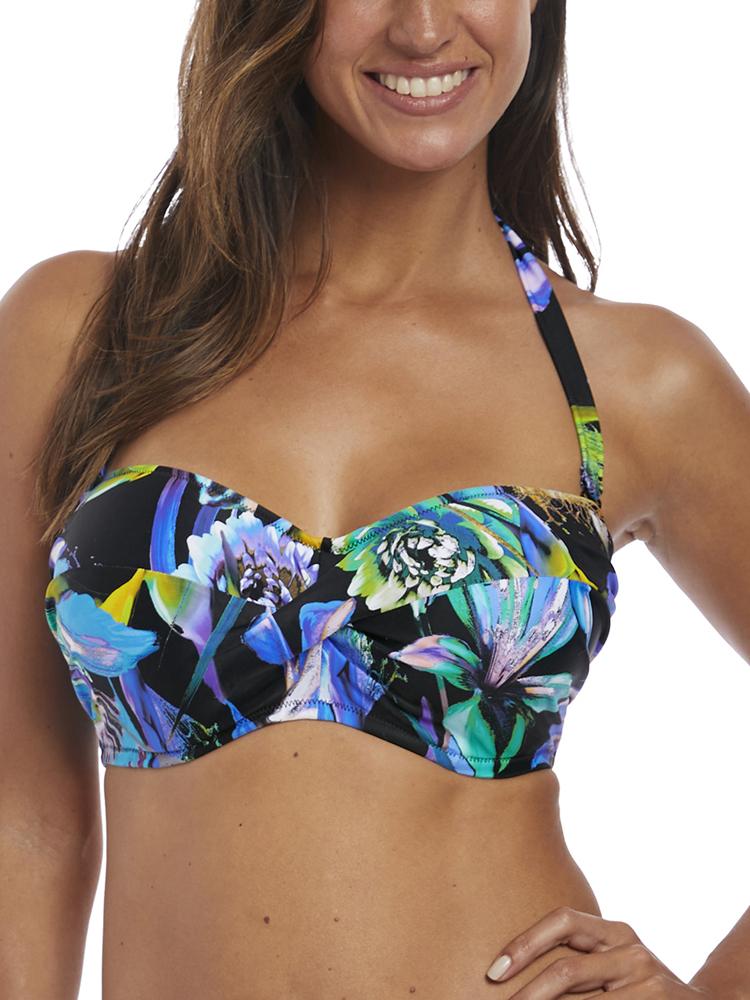 Fantasie Paradise Bay Strapless Bandeau Bikini Top 6476 Underwired Foam Cups