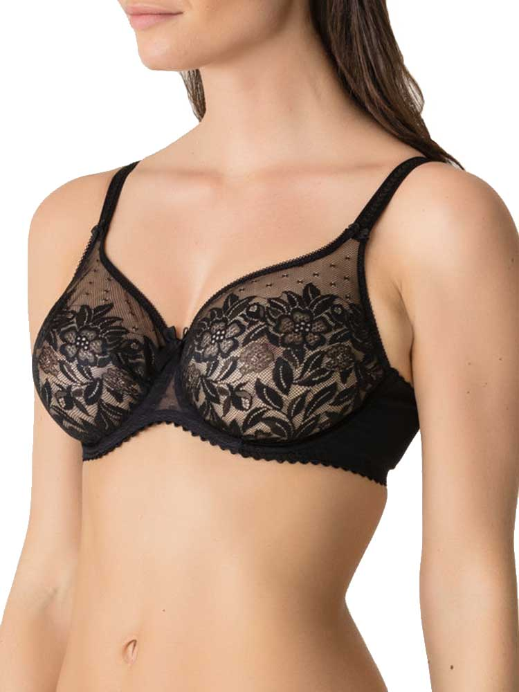 PrimaDonna Divine Full Cup Bra 0162650 Underwired Non Padded Sheer Lace Lingerie