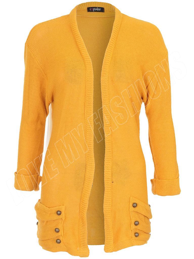 Mustard Yellow Cardigan Ladies 79