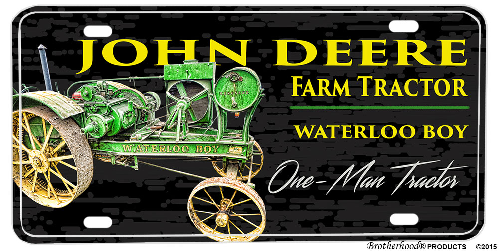 Tractor License Plates : John deere waterloo boy farm tractor aluminum license