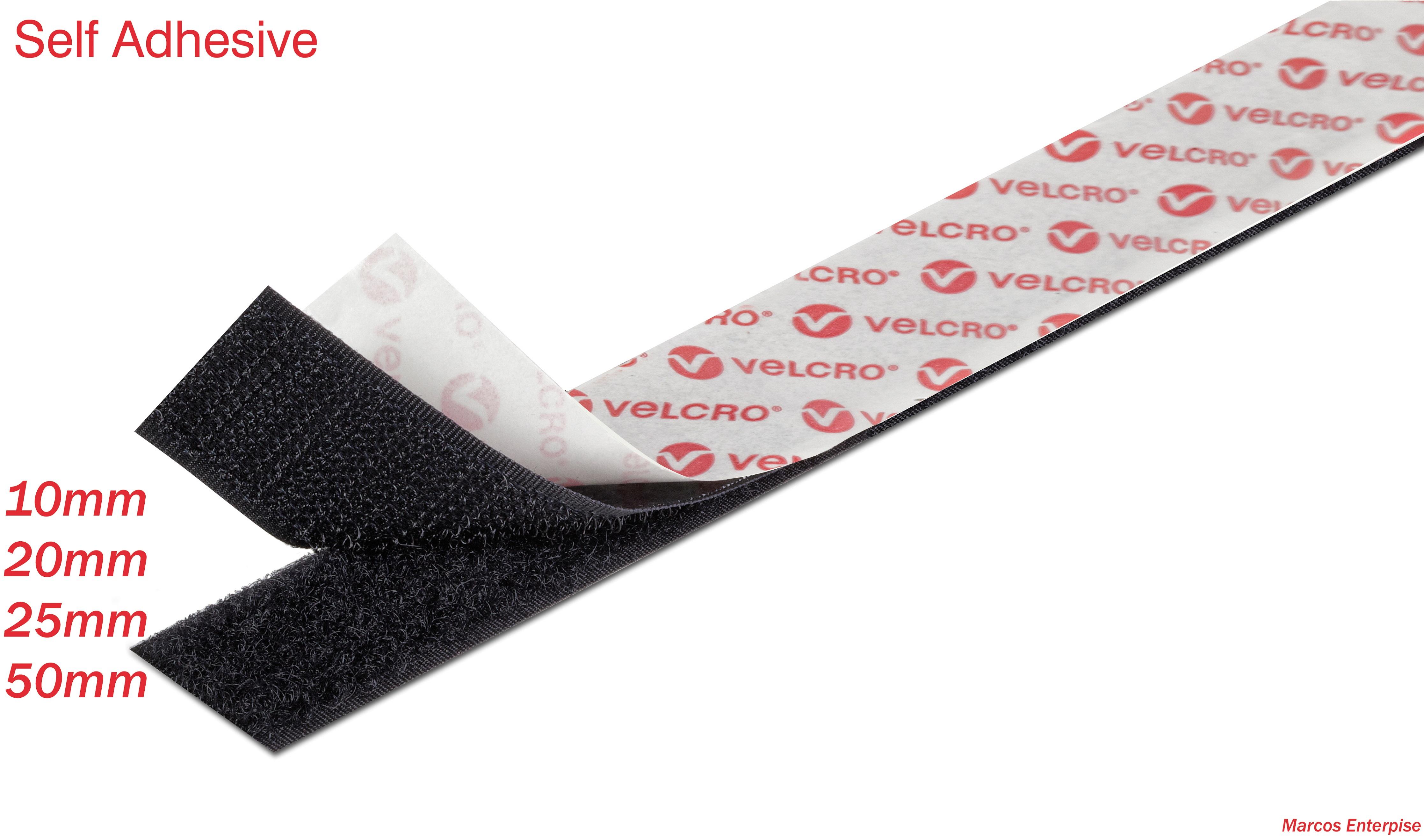 velcro brand self adhesive ps14 hook and loop sticky back tape ebay. Black Bedroom Furniture Sets. Home Design Ideas