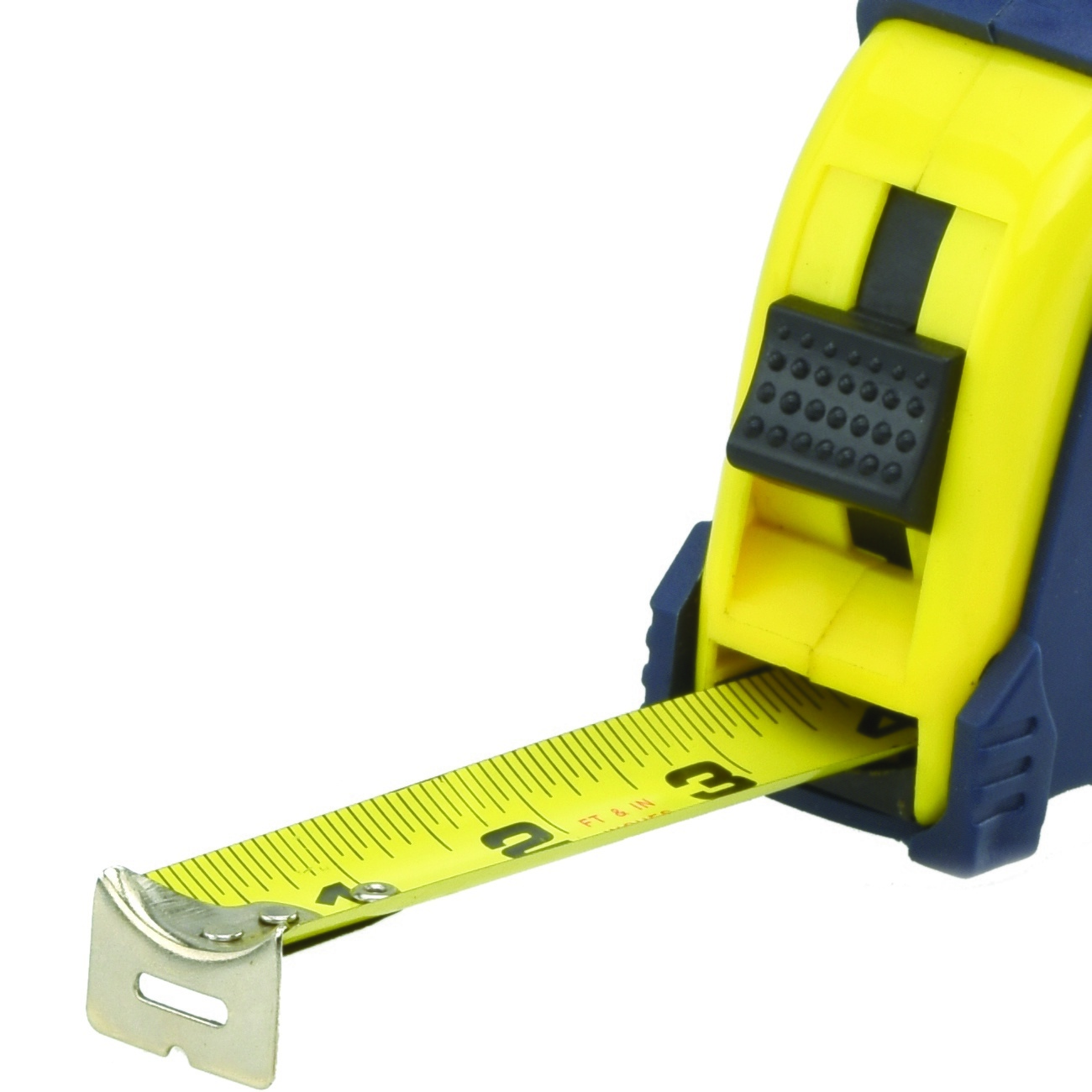 measuring tape 33 39 ft x 1 1 4 inch pause function button lock sae mm contractor ebay. Black Bedroom Furniture Sets. Home Design Ideas