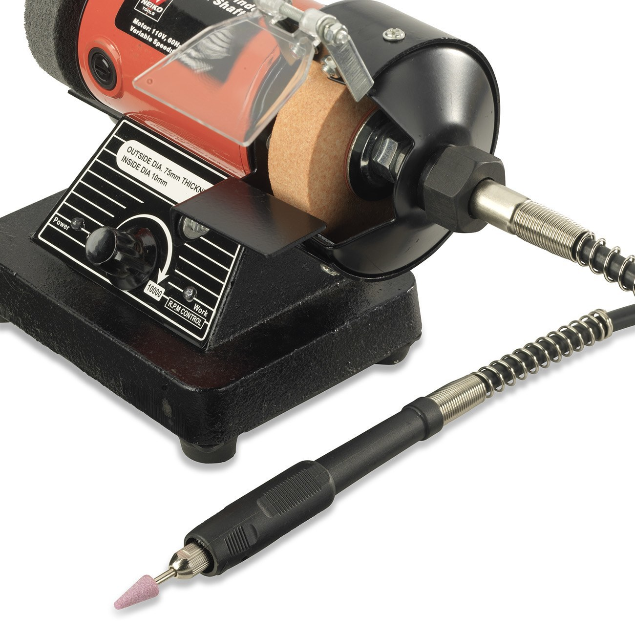 Mini Bench Grinder Rotary Flexible Shaft Polisher Die Carving 10 000 Rpm Ebay