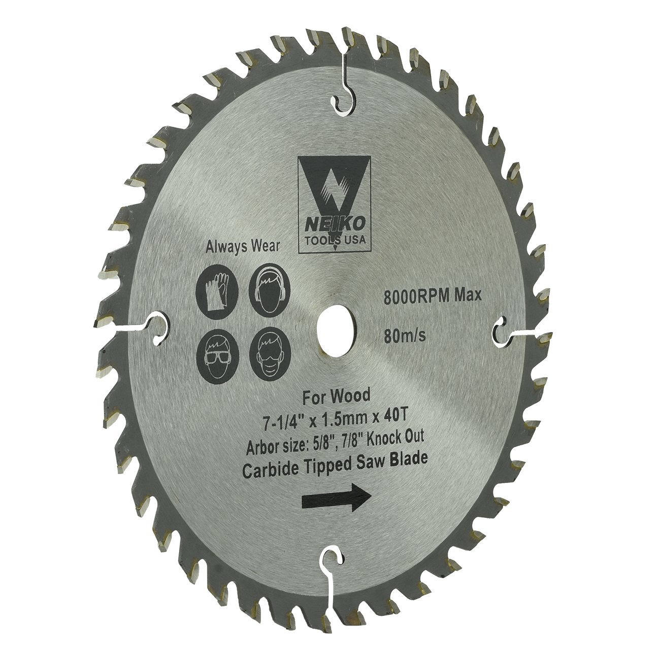 Table Saw Blades For Wood Carbide Tipped 7 1 4 Inch X 40 Teeth Ebay