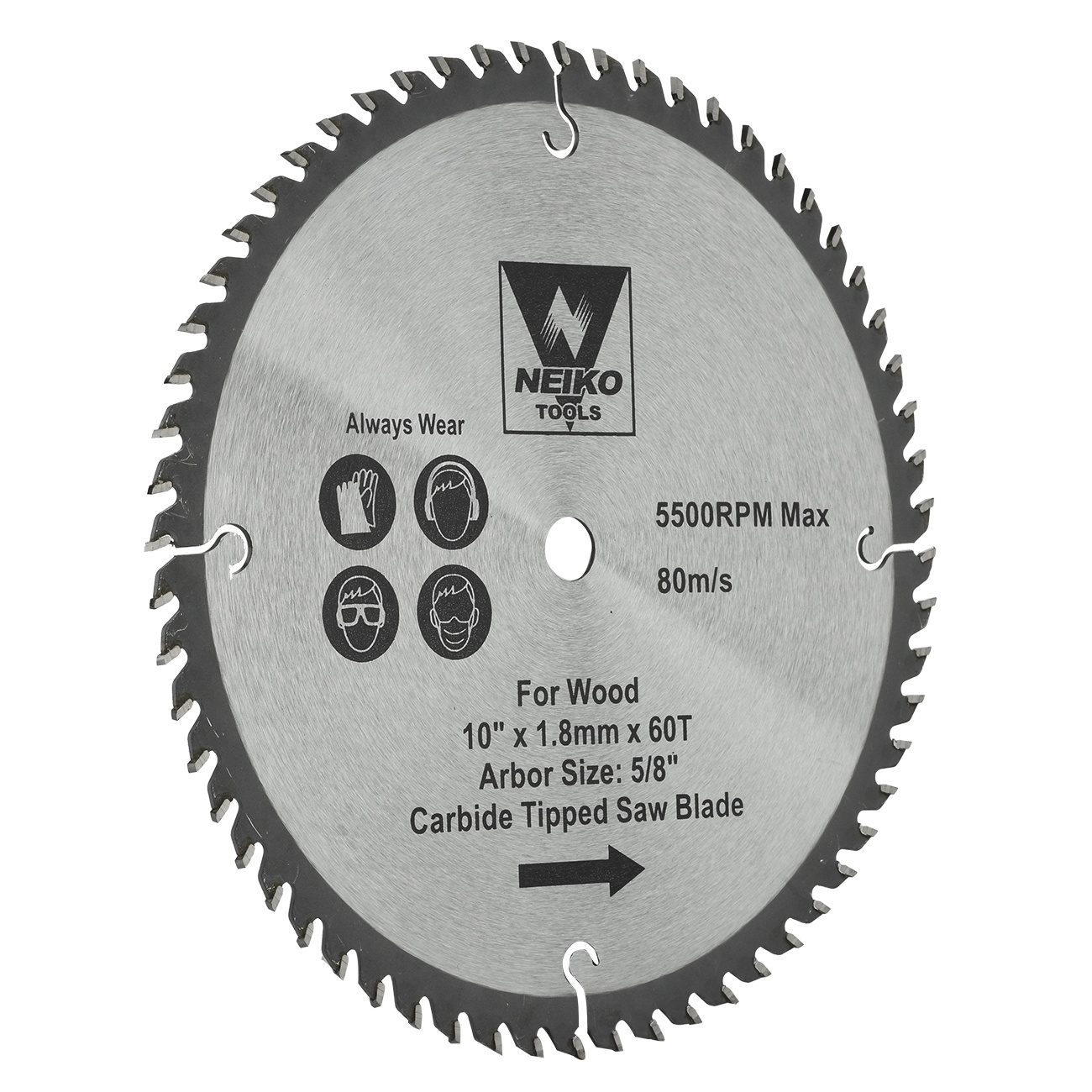 Table Saw Blades For Wood Carbide Tipped 10 Inch X 60 Teeth Ebay
