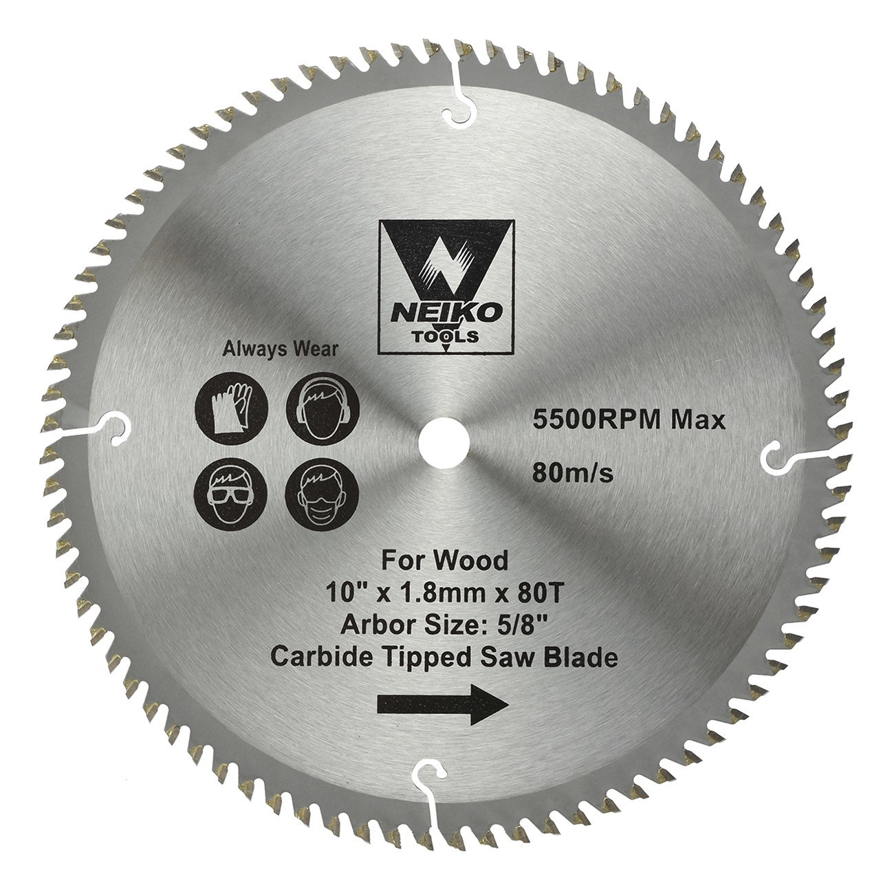 Table saw blades for wood carbide tipped 10 inch x 80 for 10 inch table saw blades
