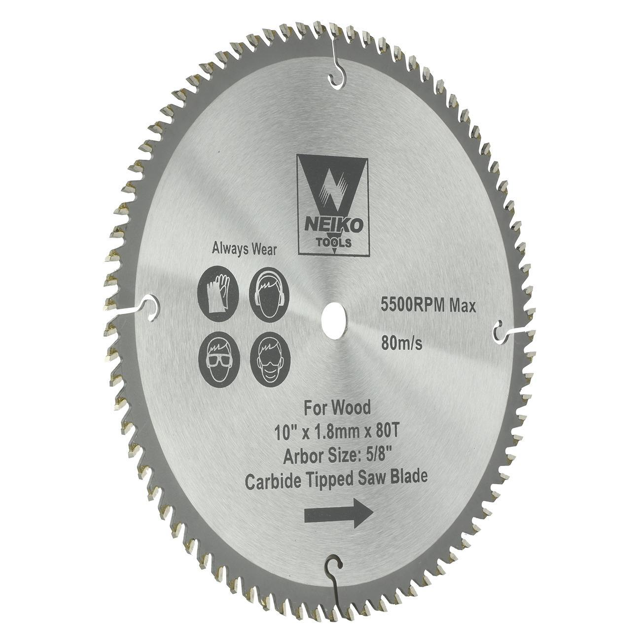 Table Saw Blades For Wood Carbide Tipped 10 Inch X 80 Teeth Ebay